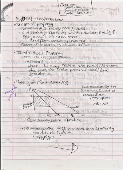 Notice how all the parts of the graph are labeled, and they are labeled in a way that I could understand.  They mostly look like gibberish to me now, but back in 2009, I knew what every label meant, and that's what counts. Photo By: Elizabeth Preston Notes Written By: Elizabeth Preston