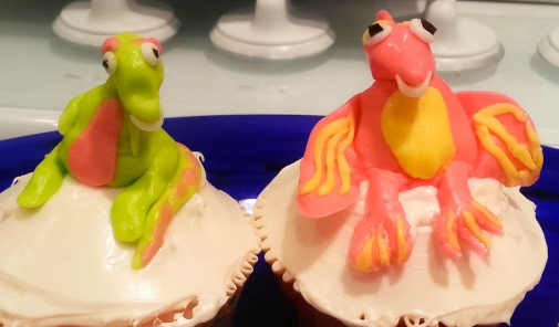 They're such laid-back dinosaurs. Cupcake By: Elizabeth Preston Photo By: Elizabeth Preston