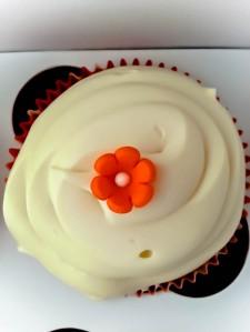 Orange Flower Cupcake