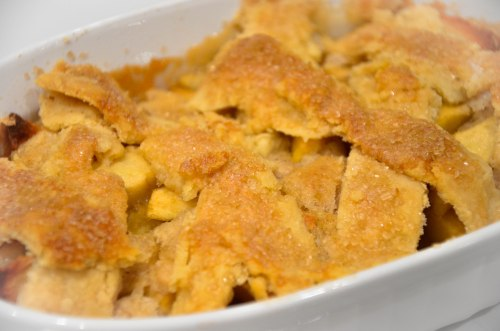 I feel like apple cobblers (pictured) are easier to make than pies are. Apple Cobbler By: Elizabeth Preston Photo By: Elizabeth Preston