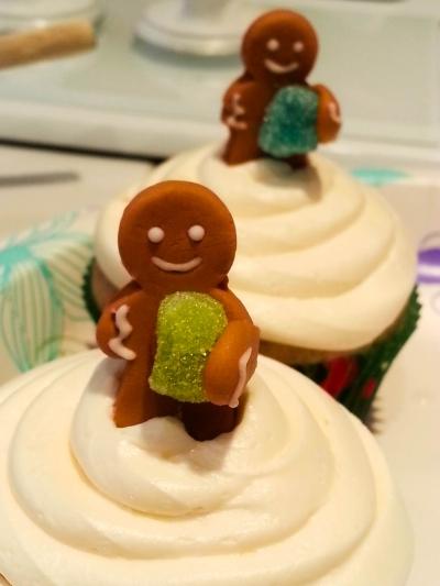 This is a cinnamon bun cake with a cream cheese frosting. Cupcake By: Elizabeth Preston Photo By: Elizabeth Preston