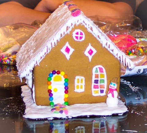This was the year when my gingerbread house actually worked . . . perhaps I should stick to making cupcakes. Photo By: Elizabeth Preston