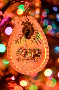 Glass Christmas Mouse