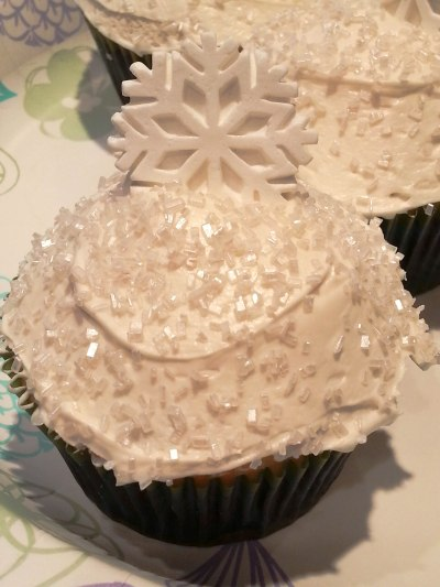 This is a vanilla cake with a vanilla cream cheese frosting. Cupcake By: Elizabeth Preston Photo By: Elizabeth Preston