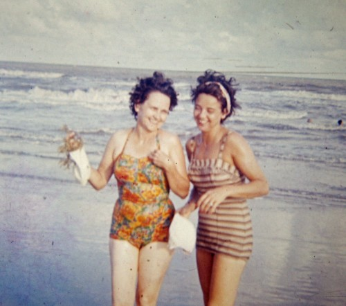 This is my grandmother with one of her sister-in-laws.  My grandma never found a beach that didn't call her name. Photo Property of: Elizabeth Preston