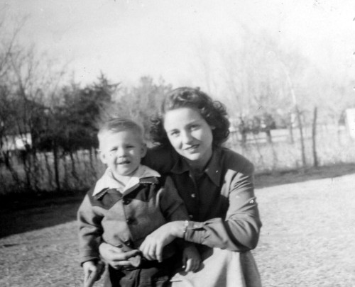 My grandma with my dad as a little guy.  She was truly beautiful. Photo Property of: Elizabeth Preston