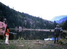 I found this, and it's a picture of my my mom in red, my dad with the rod, and my grandpa at the end with their little poodle. They were in Colorado on a fishing trip. I love that this picture has red, white, and blue in it. I think that my grandmother took the picture. Photo By: Elizabeth Preston