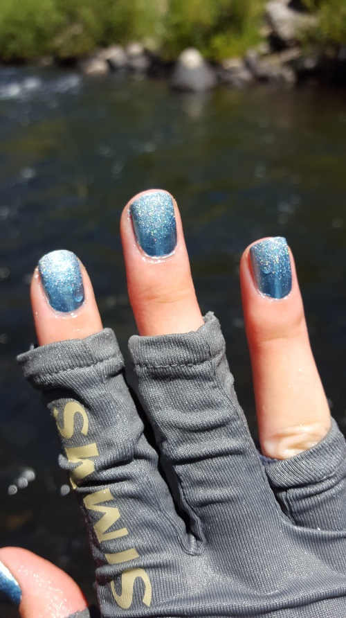 Nail Art While Fishing